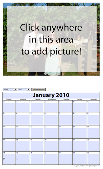 Free photo calendar template - instructions