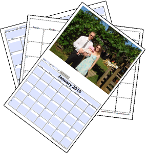 2019 printable blank photo calendar template