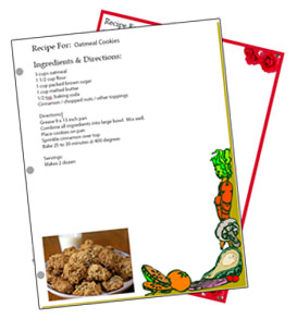Binder Sized Free Recipe Card Templates