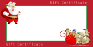 Free Christmas Gift Certificate Cards Customize and Print