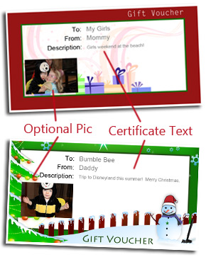 Christmas Gift Card Template How To Customize  Christmas Gift Vouchers Templates