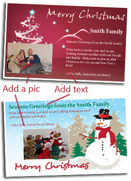 Free Christmas Photo Greeting Card Cards Customize And Print - Card template free: photo insert christmas cards