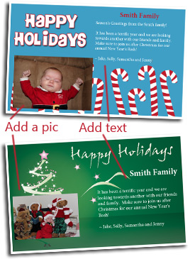 Free holiday photo greeting card cards customize and print holiday greeting template how to photo customize m4hsunfo