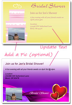 bridal shower invitation template how to customize