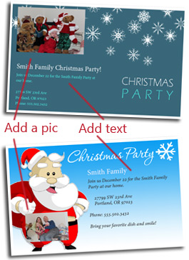 Free christmas party invitation cards customize and print christmas invitation template how to customize stopboris Image collections