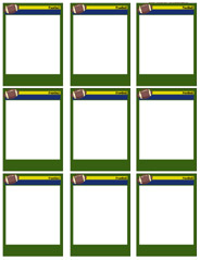 Football Card Templates - Free, blank, printable, customize