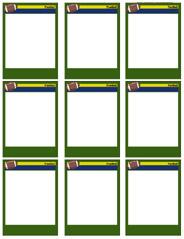 football card templates free blank printable customize
