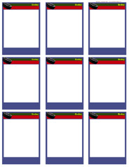 baseball card template microsoft word - hockey card templates free blank printable customize
