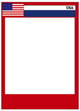 Usa card templates free blank printable customize for Baseball card size template